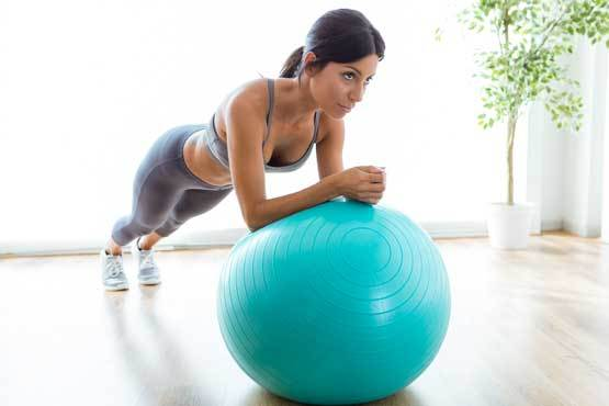 gainage avec swiss ball