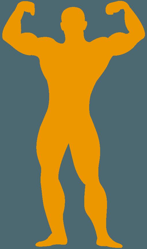 silhouette d'homme musclé